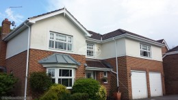 White squareline guttering tongue and groove soffit fascia