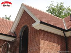 3 tier bespoke UPVC decorative fascia with black ogee guttering