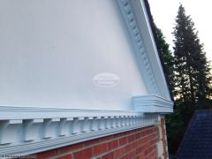 Decorative fascia with dentil mouldings installation
