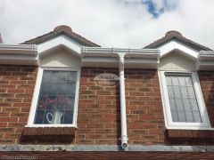 Replacement UPVC ogee guttering with white UPVC fascia and soffit