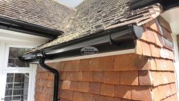 UPVC black deep flow guttering black UPVC fascia