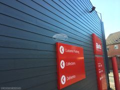 Weatherboard cladding on commercial preoperty