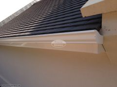 White seamless guttering by The Fascia Division