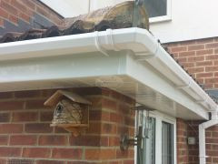 White square guttering white fascia soffit full replacement