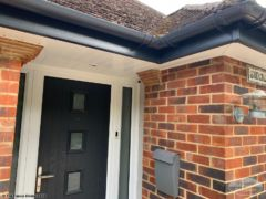 Grey fascia and guttering