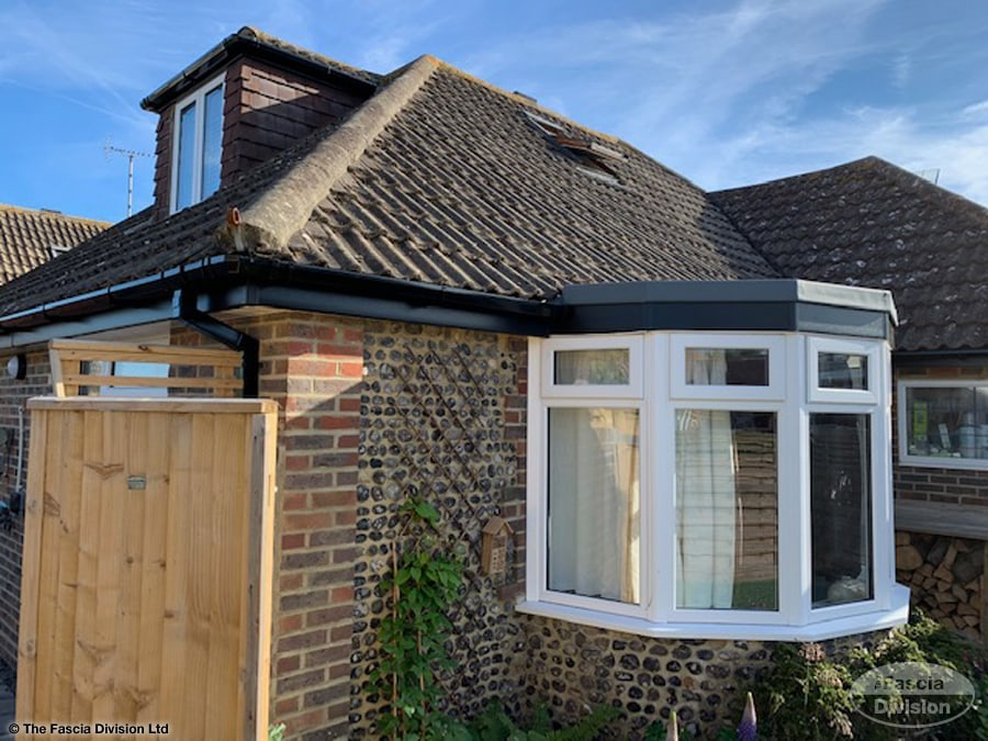 Black fascia and guttering in Worthing