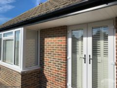 Fascia, soffit and guttering on a bungalow