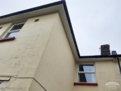 Black UPVC guttering with white UPVC fascia