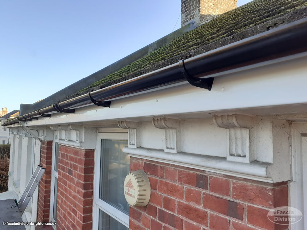 new PVC fascias and guttering on a character property